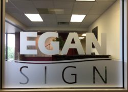 Egan Sign Window Vinyl