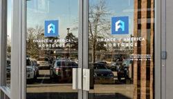 Finance of America Mortgage Door Vinyl