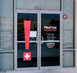 MedPost Door Vinyl