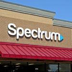 front of spectrum sign