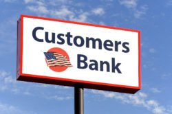Customers Bank sign