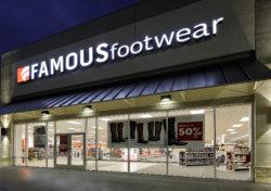 Famous Footwear Sign