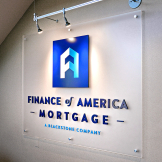 Finance of America Mortgage Interior Sign