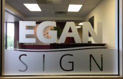 Egan Sign Window Vinyl