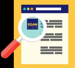 illustration showing egan sign logo