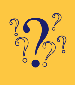 blue questions marks on yellow background