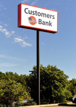 Customers Bank Pole Sign