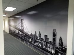 Large Format Digitally Printed Wall Vinyl