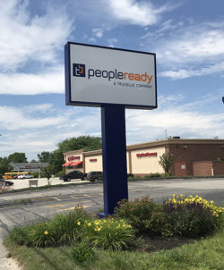PeopleReady Pole Sign