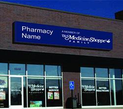 Pharmacy designed sign