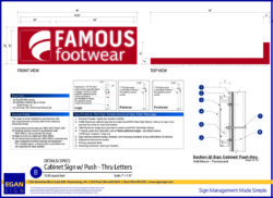 Famous Footwear Routed Sign
