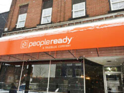 TrueBlue People Ready's Awning is Protecting Clients from the Snow