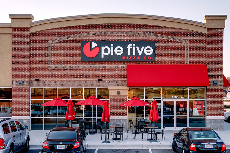 Pie Five Pizza Co is Looking Sharp with Their Red Awning