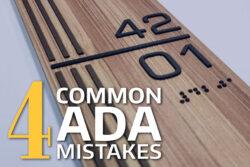 4 Common ADA Mistakes
