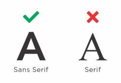 Sans Serif Compliant; Serif Not